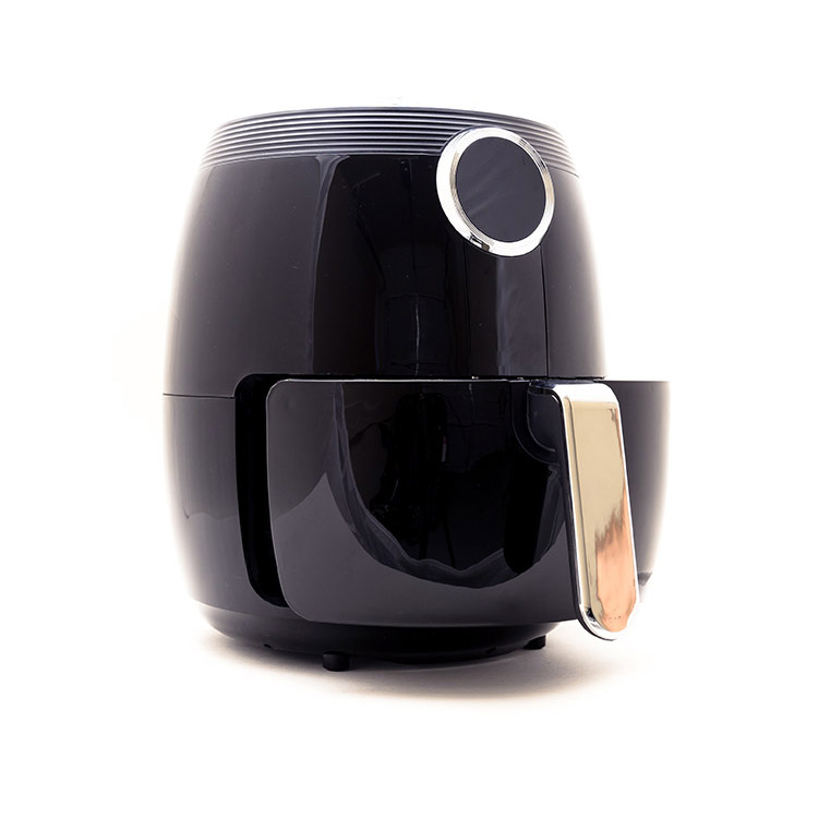 Air Fryer Guide For Beginners - a black air fryer on a white background