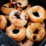 Air Fryer Bagels With Blueberries