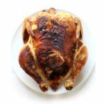 Air Fryer Rotisserie Chicken on a platter.