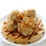 Air Fryer Vegan Chicken & Waffles