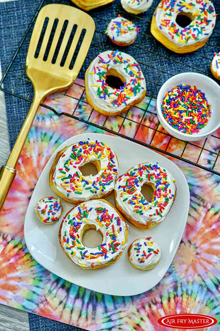 Air Fryer Donuts Recipe With Sprinkles